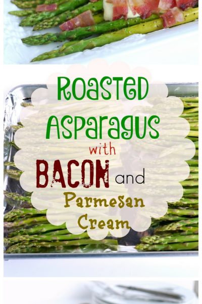Roasted Asparagus with Bacon and Parmesan Cream