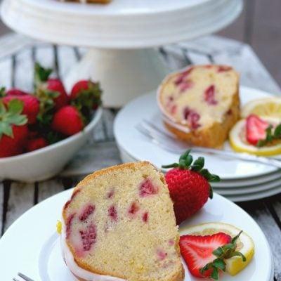 Strawberry Lemon Cream Cheese Pound Cake + VIDEO