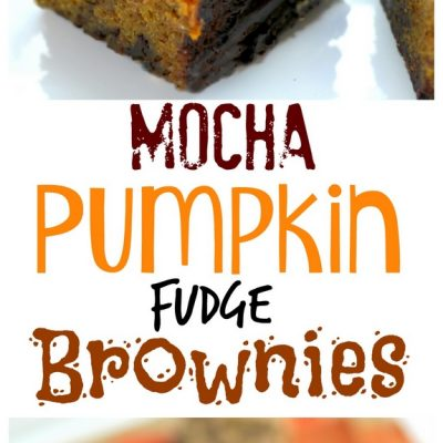 Mocha Pumpkin Fudge Brownies