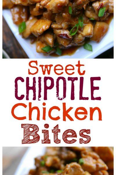 Sweet Chipotle Chicken Bites