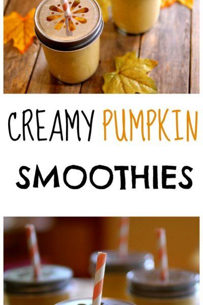 Creamy Pumpkin Smoothies