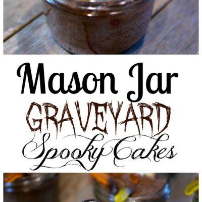 Mason Jar Graveyard Spooky Cakes