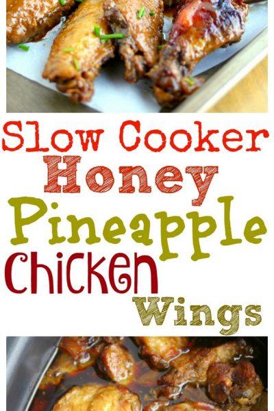 Slow Cooker Honey Pineapple Chicken Wings
