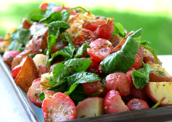 Roasted Radish and Potato Salad
