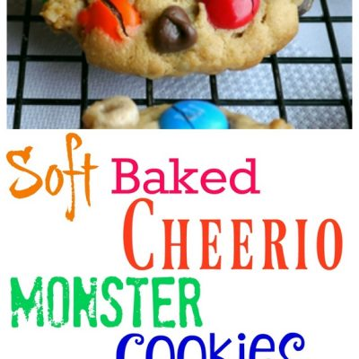 Soft Baked Cheerio Monster Cookies from NoblePig.com