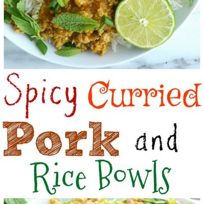 Spicy Curried Pork and Rice Bowls + VIDEO