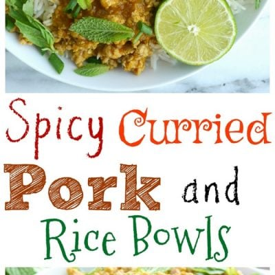 Spicy Curried Pork and Rice Bowls