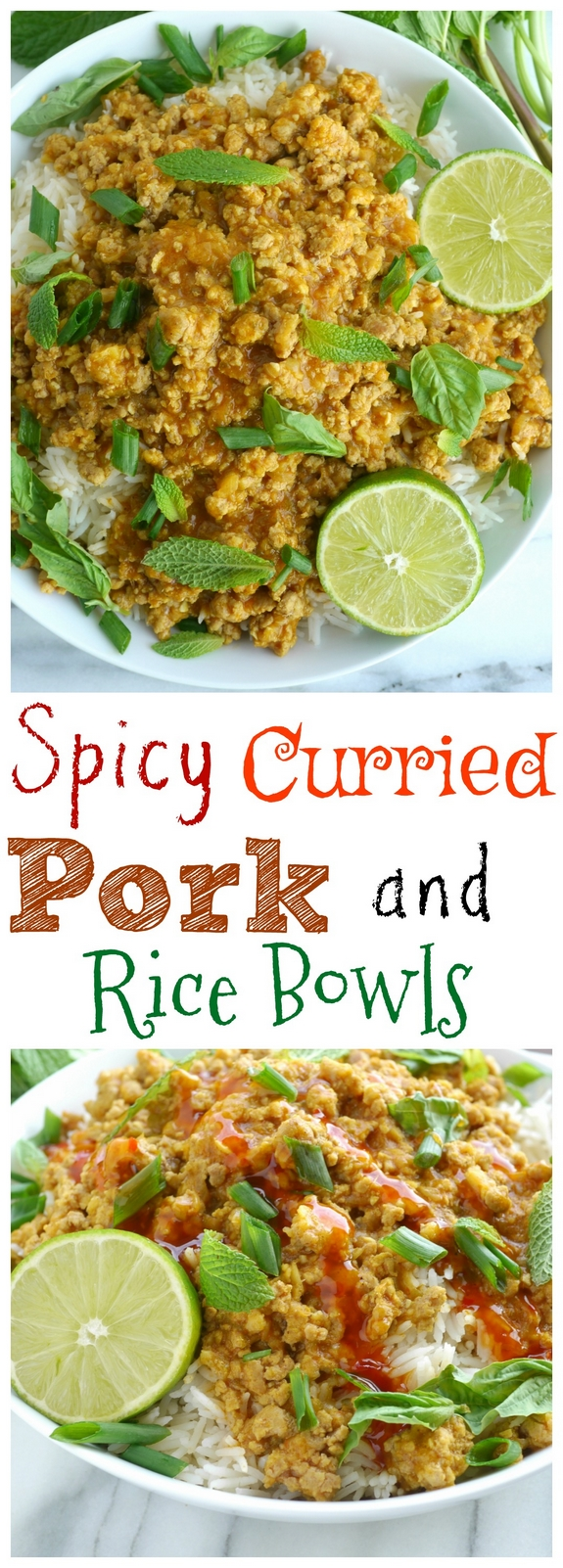 Spicy Curried Pork and Rice Bowls are a dinner you don't want to miss