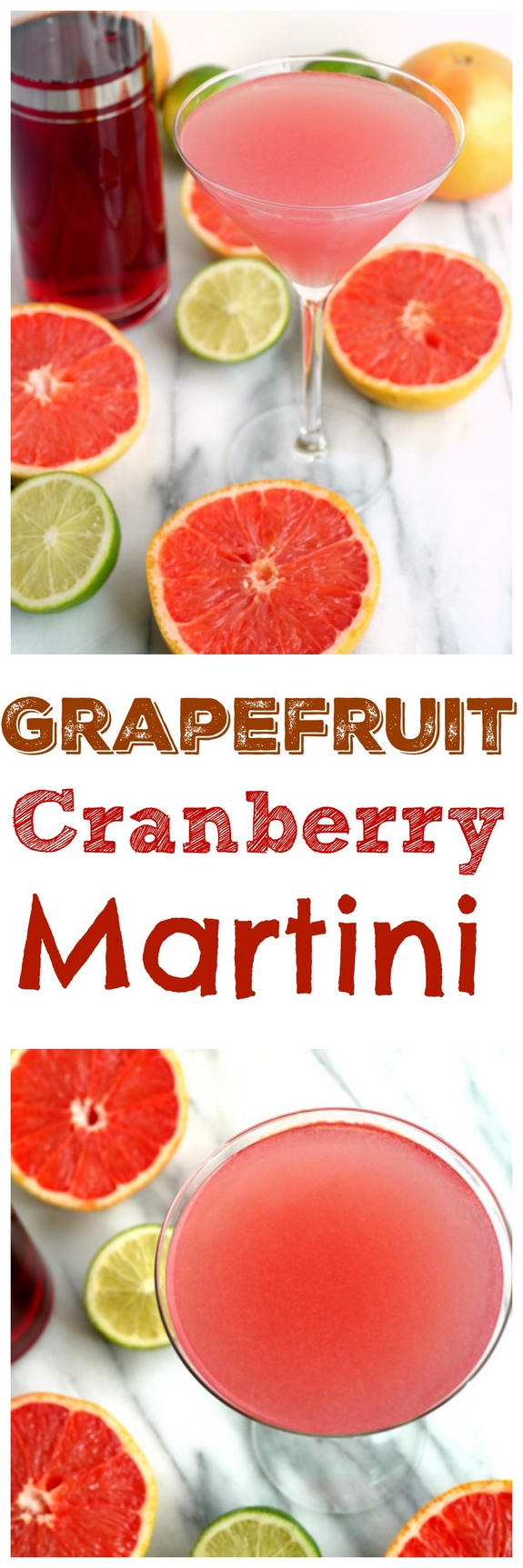 Refreshingly tart and delicious, this Grapefruit Cranberry Martini will have you in fun mode in no time. A few sips of this delightful cocktail and you will forget all about winter from NoblePig.com. via @cmpollak1