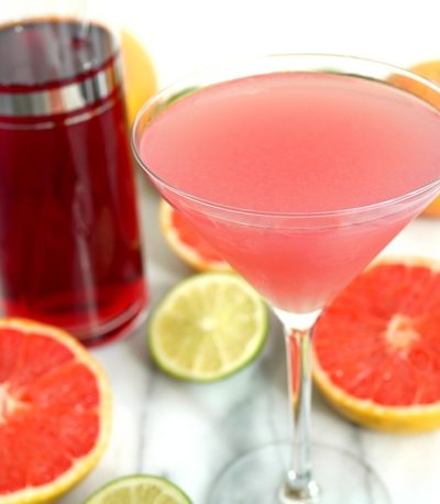 Grapefruit Cranberry Martini