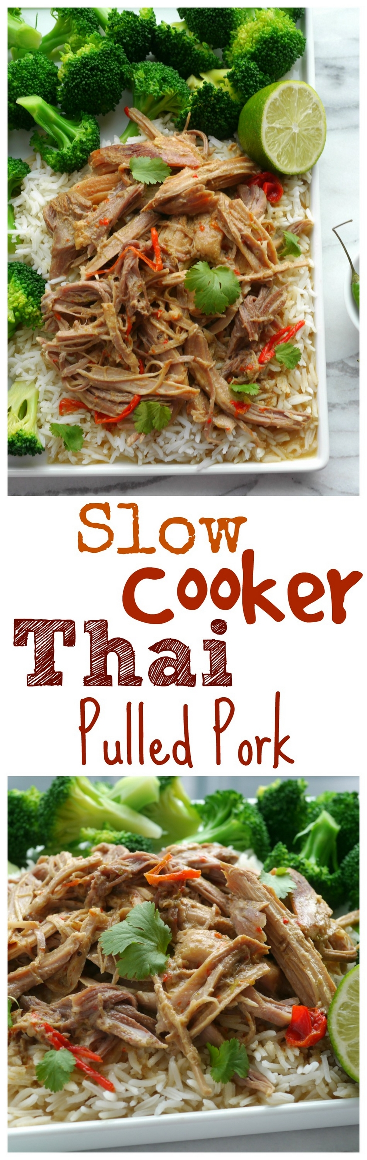 VIDEO + RECIPE: Delicious shredded pork with a Thai flavor you will not be able to stop eating. This Slow Cooker Thai Pork has layers of flavor and is perfect served over rice, but would also make great pulled pork sandwiches, from NoblePig.com. via @cmpollak1
