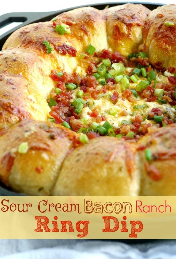 Sour Cream Bacon Ranch Ring Dip