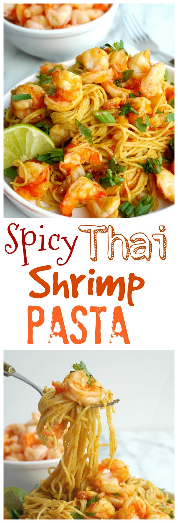 VIDEO + RECIPE: This Spicy Thai Shrimp Pasta is so simple to make you just might serve it twice in one week. The sauce comes together easily in the blender and is packed with flavor. Don't worry about having leftovers, they reheat perfectly from NoblePig.com. via @cmpollak1