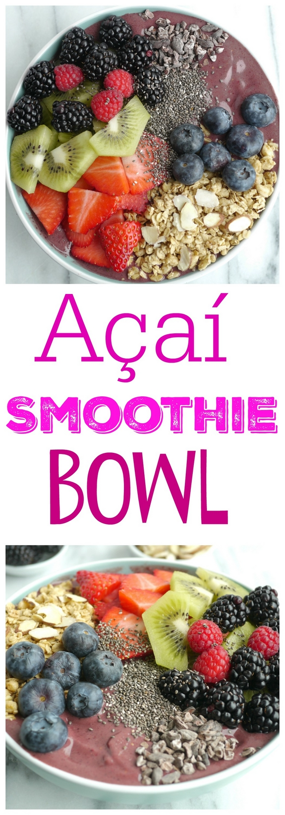 Add this delicious Açaí Smoothie Bowl to your morning routine and you will look forward to your alarm clock going off every day! If you're drinking your morning smoothie out of a glass, you're doing it wrong from NoblePig.com via @cmpollak1