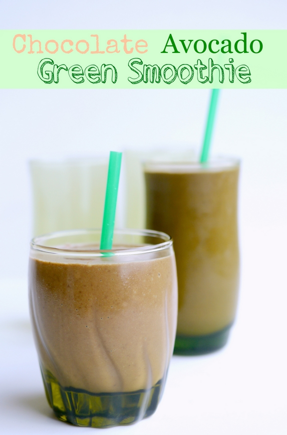 Chocolate Avocado Green Smoothie