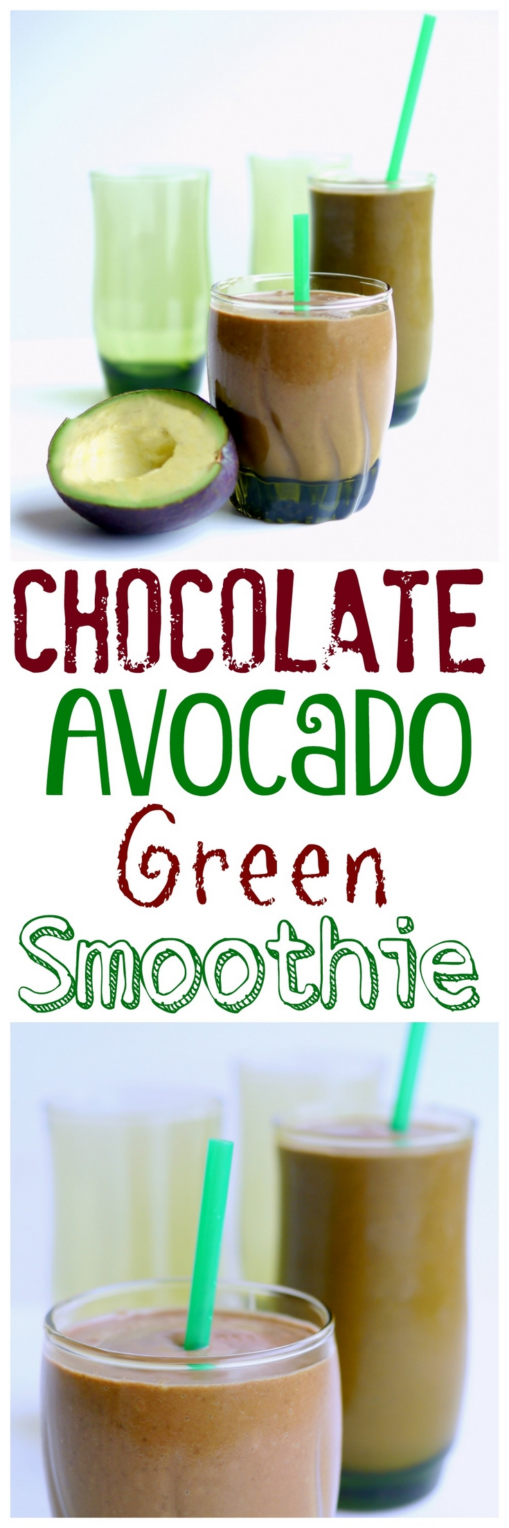This deliciously rich and satisfying Chocolate Avocado Green Smoothie is packed with heart-healthy ingredients and makes you think you are having dessert instead of breakfast from NoblePig.com. via @cmpollak1