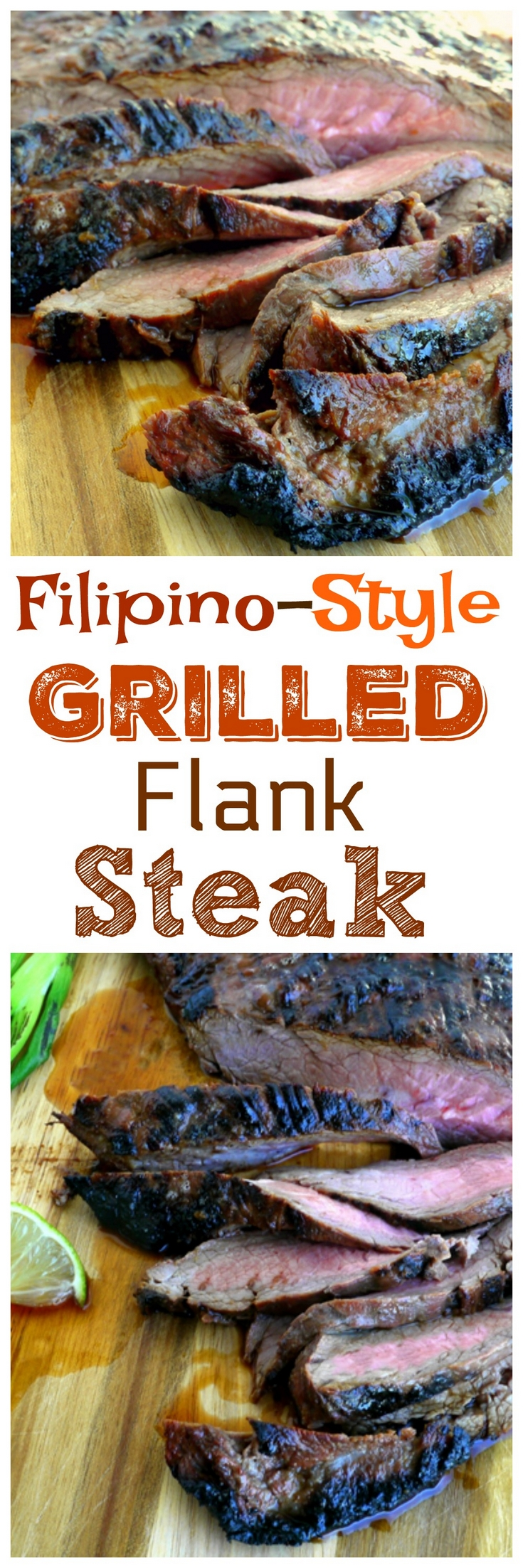 Tender and delicious Filipino-Style Grilled Flank Steak, with the perfect balance of a sweet, salty and sour marinade that is purely Filipino inspired. via @cmpollak1