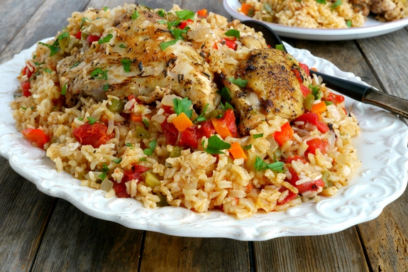 Easy Arroz Con Pollo from NoblePig.com