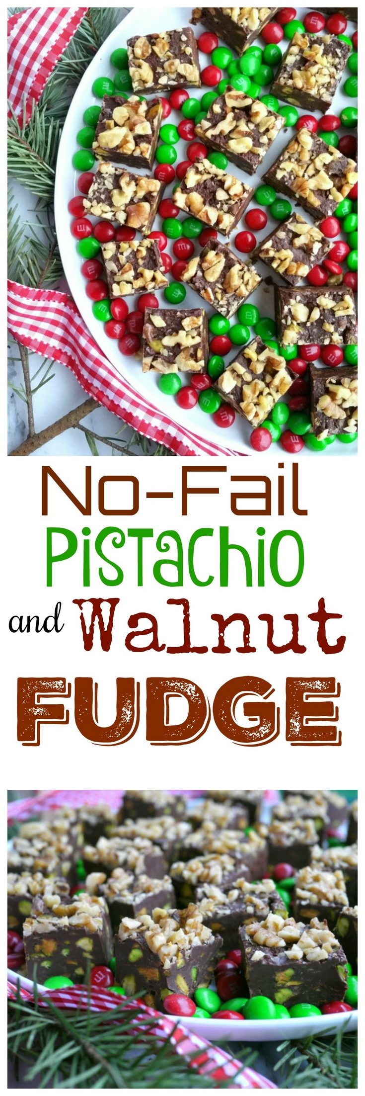 VIDEO + RECIPE: Meticulous cooking and constant beating is not necessary with this No-Fail Pistachio and Walnut Fudge. The recipe is foolproof and makes perfect fudge every, single time. Perfect for giving too, from NoblePig.com. #noblepig #fudge #christmas  via @cmpollak1