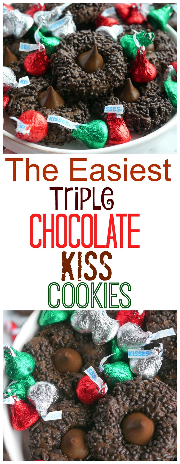 When you need to make a batch of cookies quickly, these Easiest Triple Chocolate KISS Cookies are ready in a snap. The trick is in the dough, from NoblePig.com. via @cmpollak1