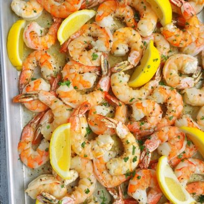 Buttery Sheet Pan Garlic Shrimp
