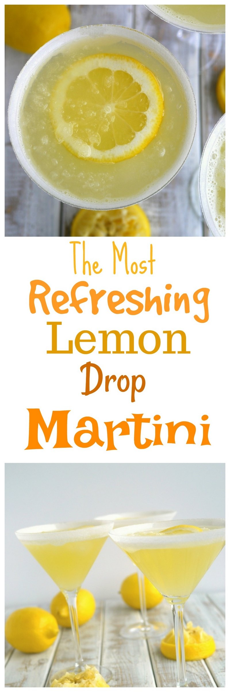 The perfect lemon drop martini should be refreshingly tart, not cloyingly sweet. Lucky for you this is The Most Refreshing Lemon Drop Martini! Give it a try soon. via @cmpollak1