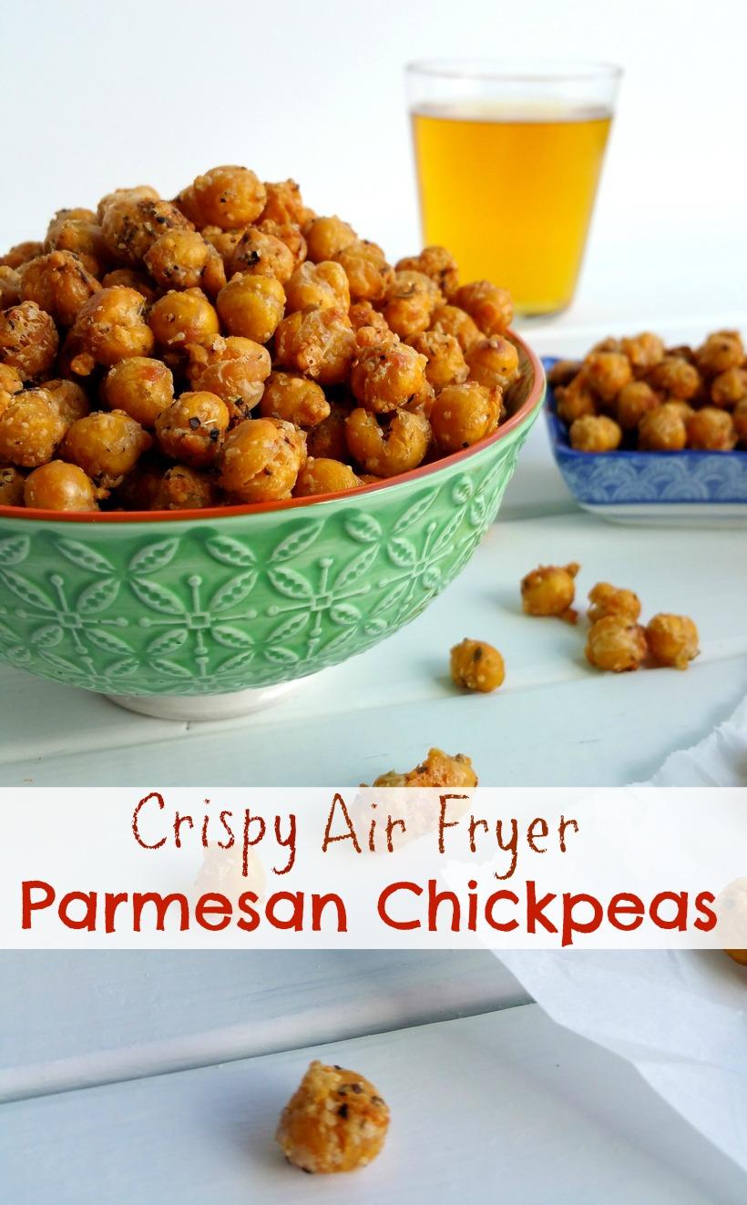 Crispy Air Fryer Parmesan Chickpeas