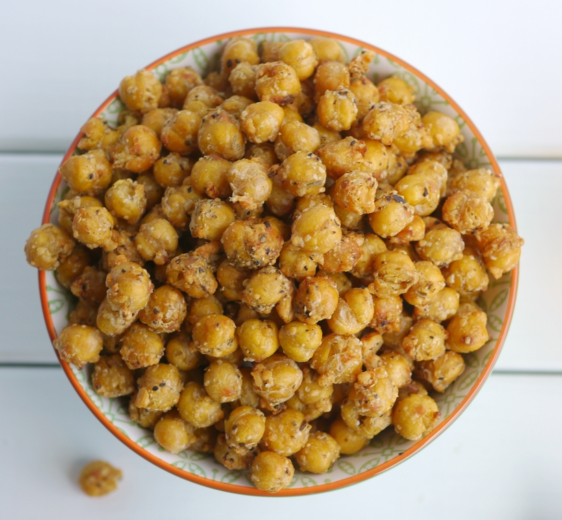 Crispy Air Fryer Parmesan Chickpeas