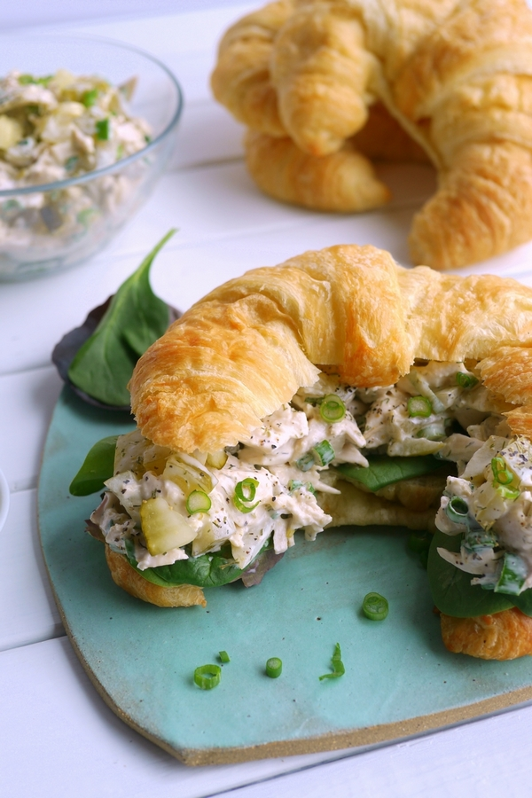 Dill Pickle Chicken Salad Croissants