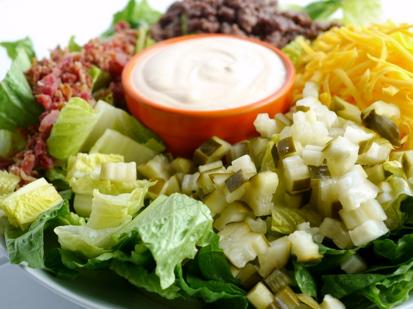 If you are trying to cut sugar out of your diet, this Low Carb Bacon Cheeseburger Salad Recipe is the perfect meal for you. Who needs the bun anyway? You'll be surprised how much this flavorful salad mimics your favorite burger.