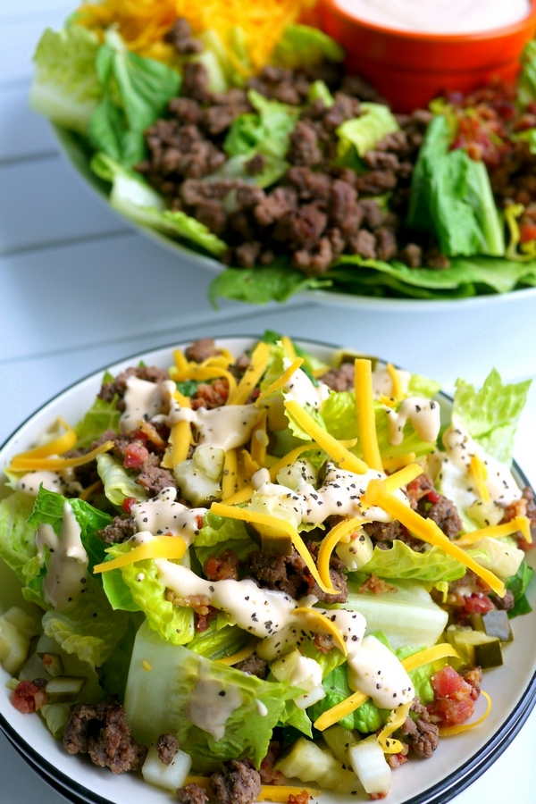 Low Carb Bacon Cheeseburger Salad