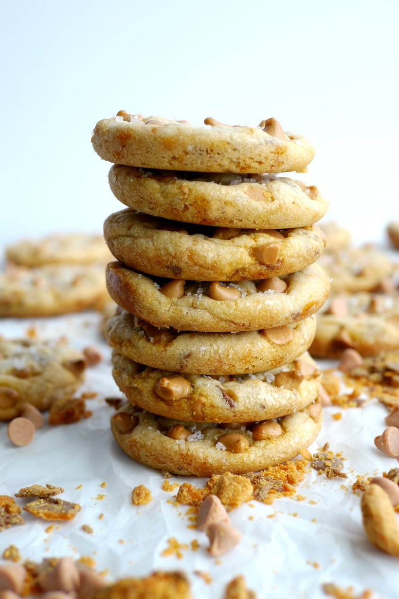 Soft Baked Butterscotch-Butterfinger Cookies