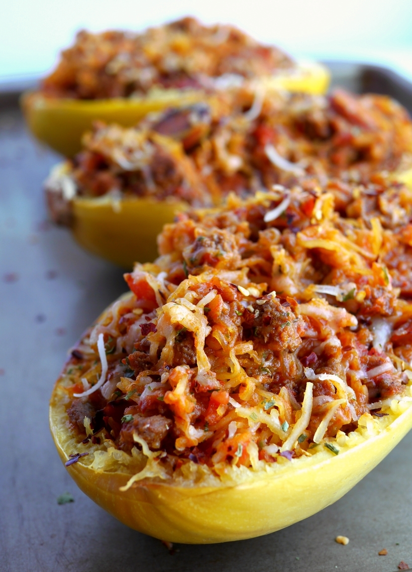recipe: spaghetti squash with spicy marinara [27]