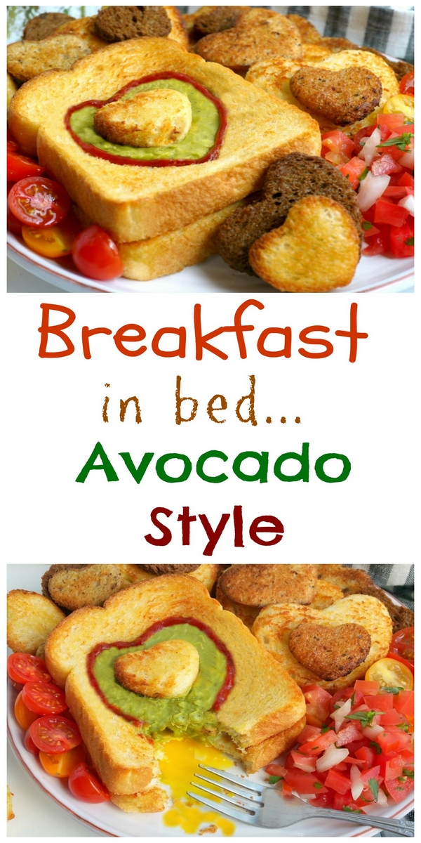 Let Mom sleep in and then wake up to a delicious, restaurant-quality, avocado style, Mother's Day breakfast in bed. If your Mom is anything like me, she will appreciate those extra winks and a thoughtful meal that pays homage to her love of avocados, with a surprise egg underneath. This gorgeous breakfast plate is easy enough for children of all ages to help prepare from NoblePig.com. #noblepig #mothersday #avocado #breakfastinbed #avocadotoast #simplyavocado #whollyguacamole via @cmpollak1