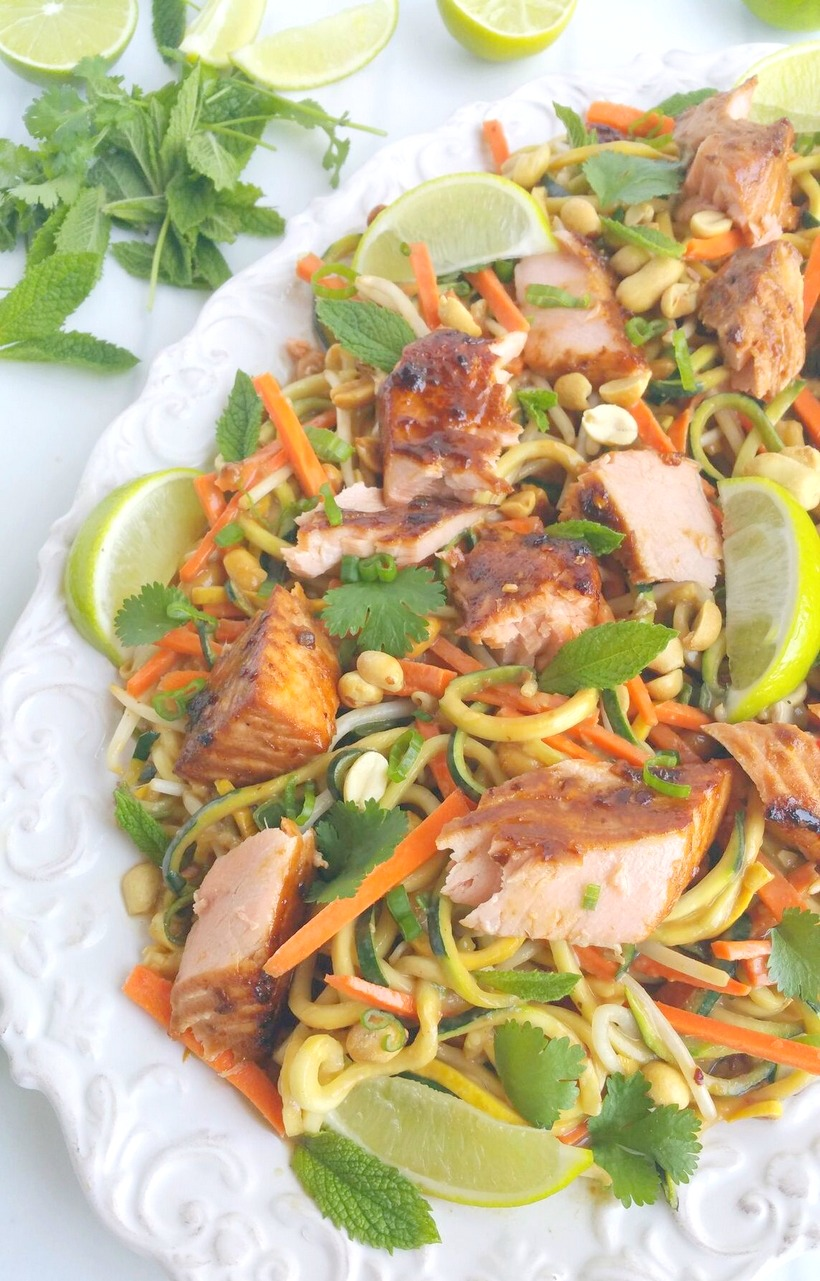 Salmon and Zucchini Noodles with Spicy Peanut Sauce, the refreshing and zesty sauce will make a lasting impression on everyone who is lucky enough to join you for this meal.