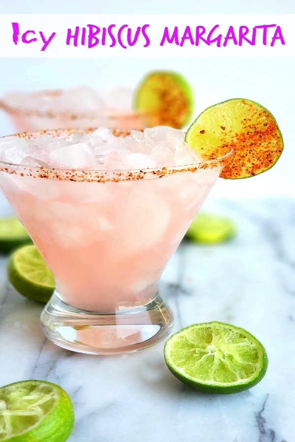 The petal pink color of this Icy #Hibiscus #Margarita is alluring, but it's the sweet, tangy and refreshing flavor that will have you asking for a second pour. #cocktail #noblepig via @cmpollak1