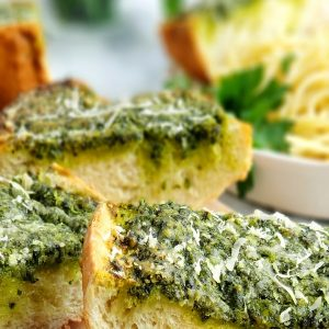 Garlicky, Cheesy Parsley Bread