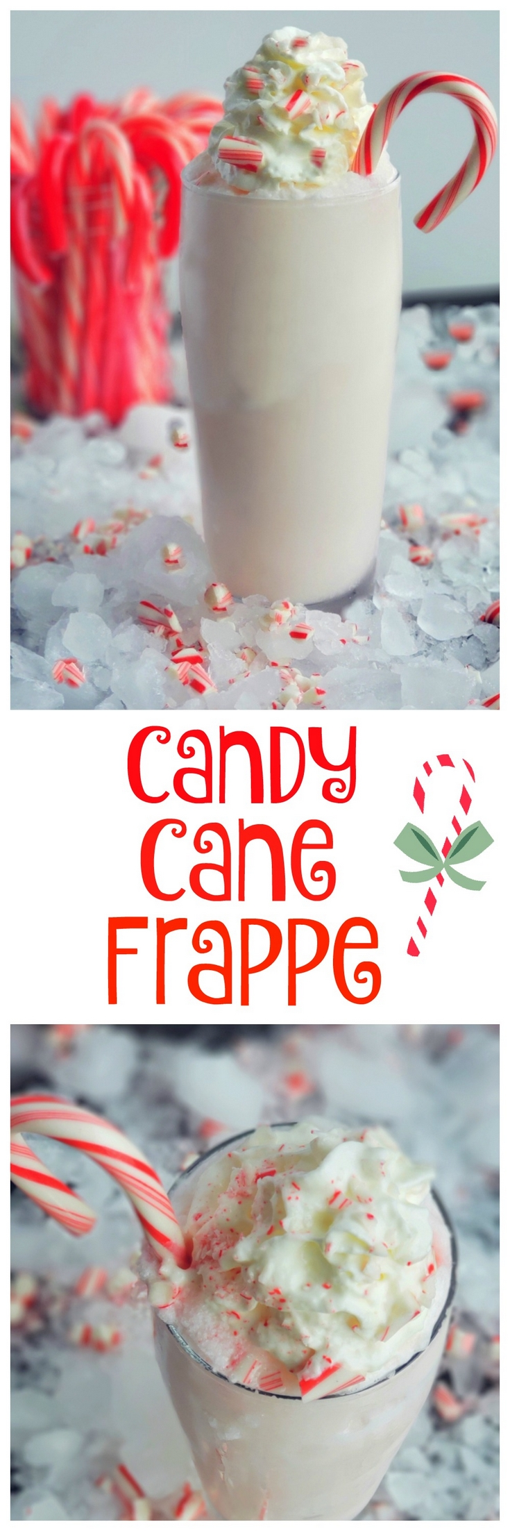 Treat yourself to a Candy Cane Frappe this holiday season or anytime you are craving a delightful peppermint flavored beverage. #noblepig #frappe #candycane via @cmpollak1
