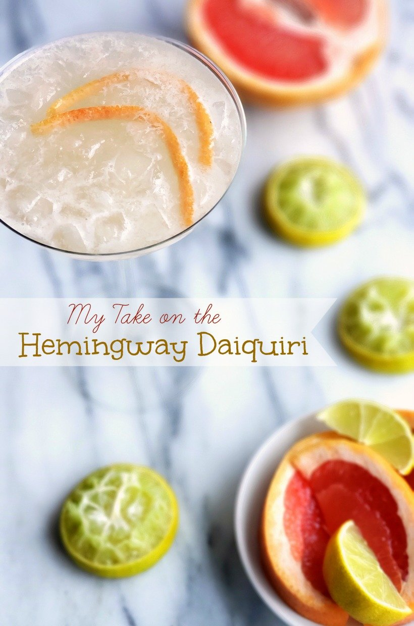 Ernest Hemingway became obsessed with the daiquiri after spending time in Cuba. This is my take on the special recipe created for him in his honor. #cocktail #daiquiri