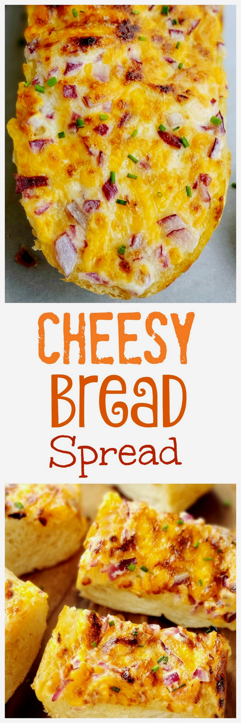 Cheesy Bread Spread will transform your regular loaf of bread into a mouthwatering sensation. Serve this bread with pasta dishes or next to a freshly made salad.  via @cmpollak1