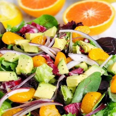 Orange and Avocado Salad in a bowl