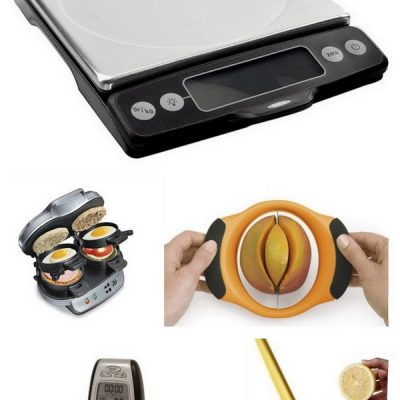 Food scale, Sandwich maker, Mango slicer, lemon squeezer, meat thermometer