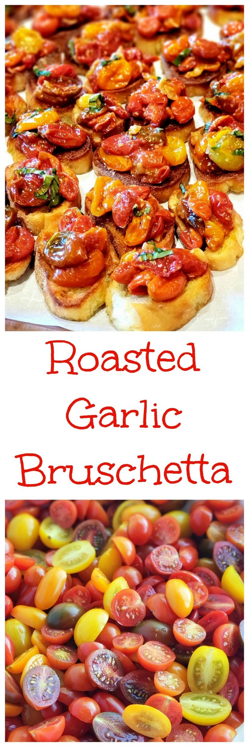 Roasted Garlic Bruschetta, the perfect party appetizer that can be made mostly ahead of time. This elegant dish shines brightly with the simplest of ingredients.  #bruschetta via @cmpollak1