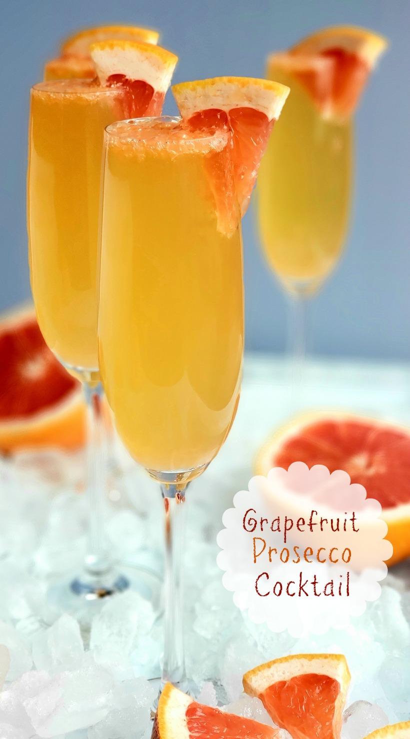Grapefruit Prosecco Cocktails
