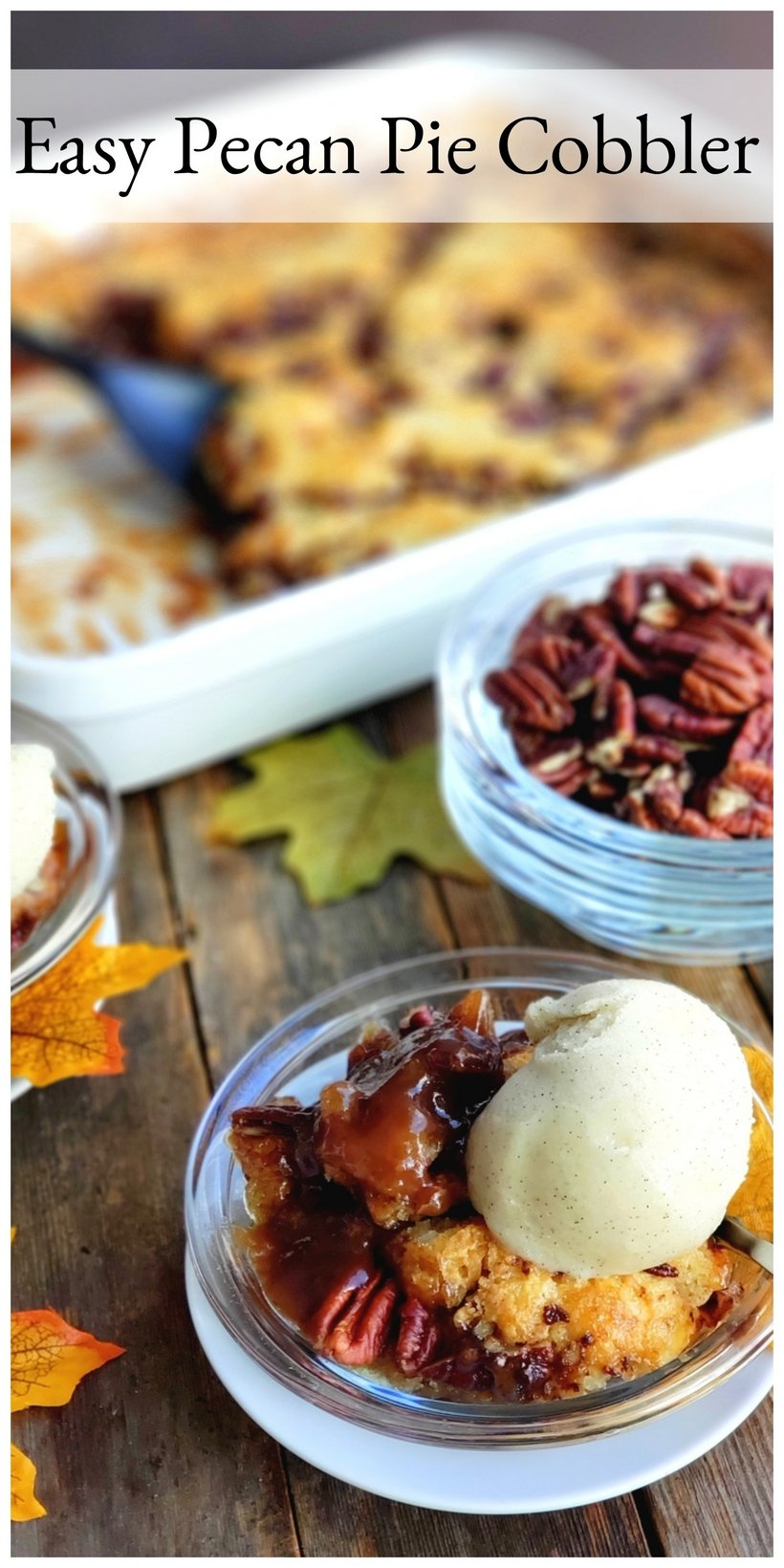 When it comes to Thanksgiving dessert ideas for a crowd, this Easy Pecan Pie Cobbler is the answer to your holiday dessert dreams. There is something amazing about taking the simplicity of cobbler and turning it into the richness of pecan pie. #pecanpie #pecanpiecobbler #pecanpiecobblerrecipe #pecanpiecobblerrecipeeasy #thanksgivingdessert #thanksgivingdesserts #thanksgivingdessertsforacrowd #thanksgivingdessertseasy #thanksgivingdessertideasbaking #easydessertrecipes #easydessert #pecans  via @cmpollak1