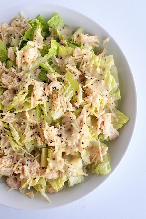Canned Chicken Caesar Salad
