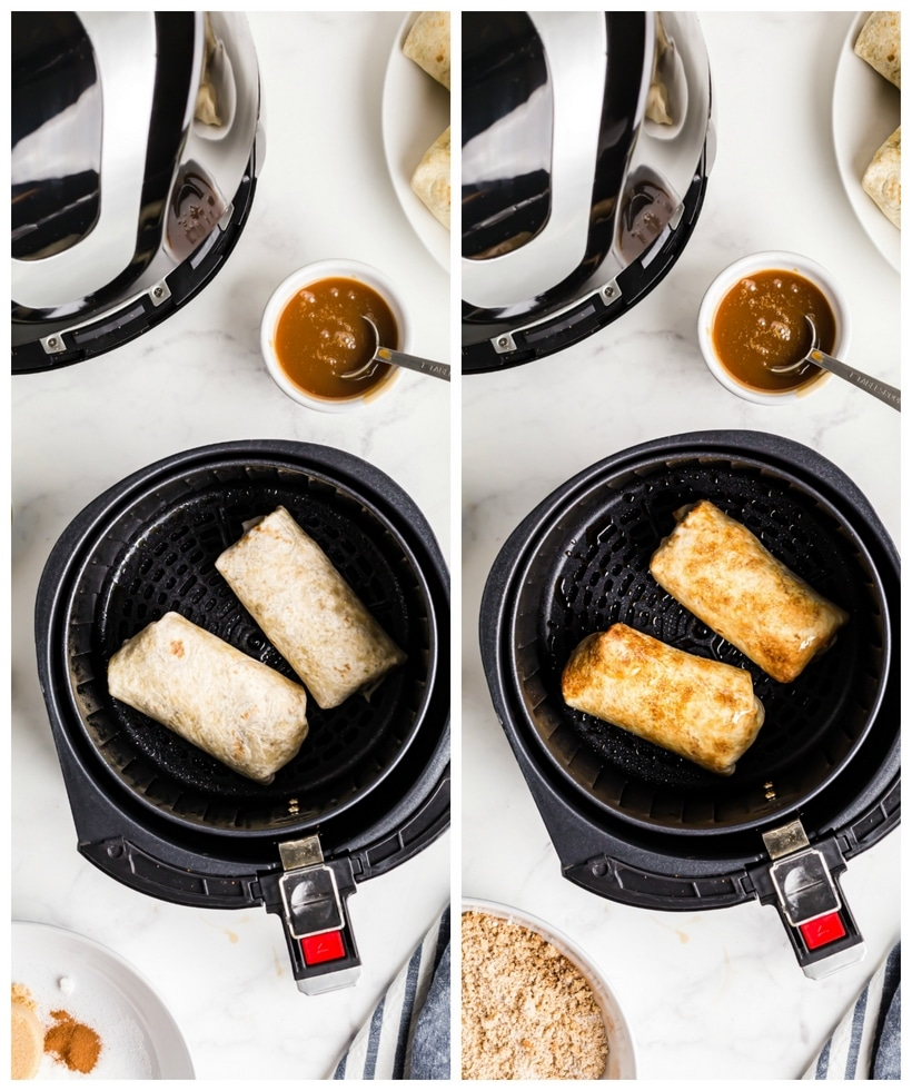 Chimichangas in an air fryer