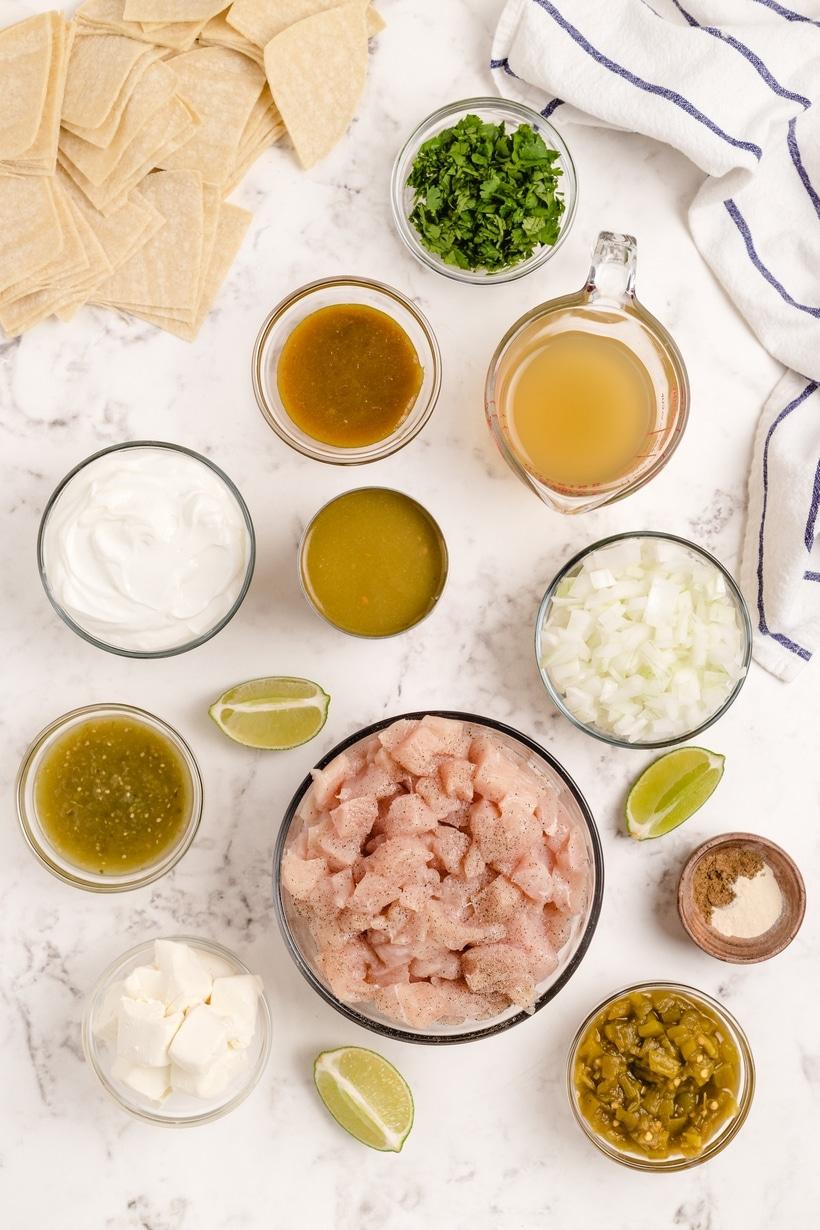 green chili enchilada casserole ingredients