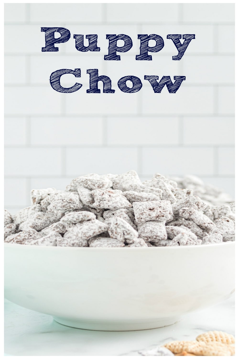 A delicious Puppy Chow recipe, sans the butter, that is the perfect sweet treat for your snacking crew. via @cmpollak1