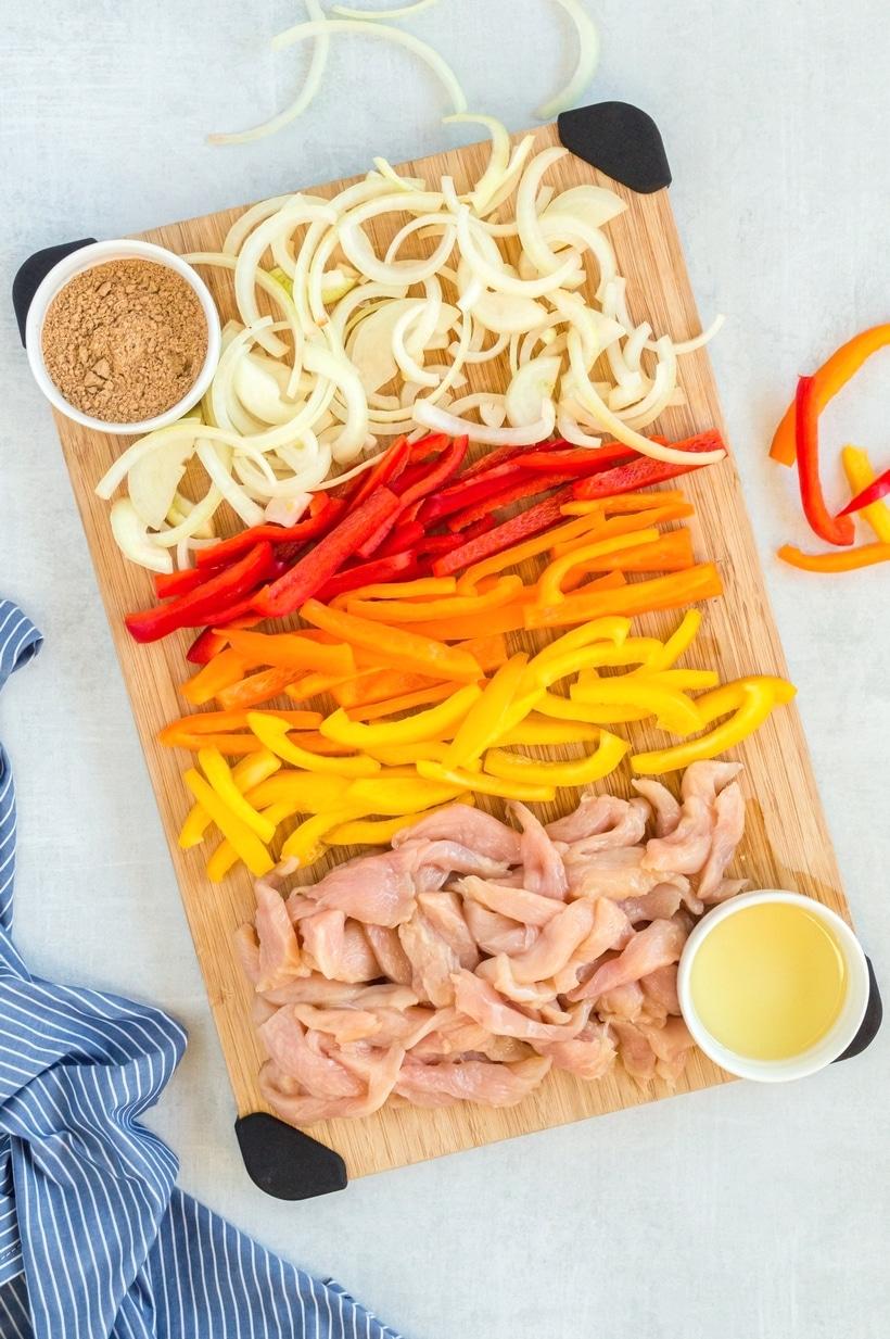 sheet pan fajita ingredients